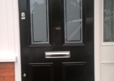 Black Timber Door